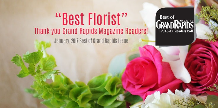 Eastern Floral was once again voted the #1 Florist by Grand Rapids Magazine Readers.