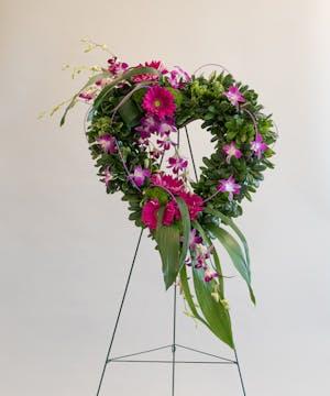 Hearts Tribute Open Heart Wreath