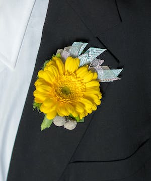 Keep 'Em Guessing Boutonniere