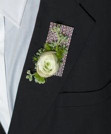 I Don't Give A Glam Boutonniere