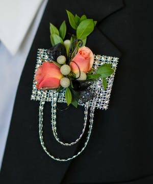 Glimmer in the Moonlight Boutonniere