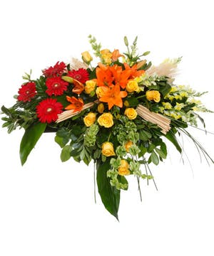 Harvest Blooms Casket Spray