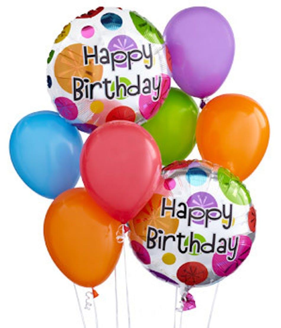 Happy Birthday To Walkonby Jan 30: Happy Birthday Balloon Bouquet